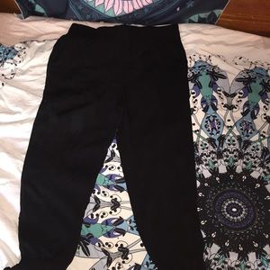 Apt. 9 Lightweight Large Black Pants W/ Ankle Ties